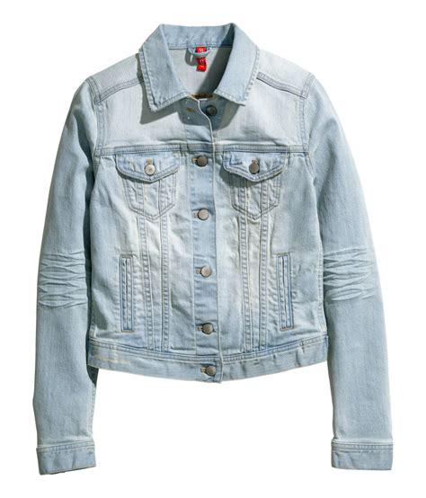 h m denim jacket in blue lyst