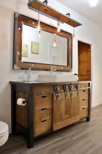 bathroom vanity wood 32 trendy and chic industrial bathroom vanity ideas digsdigs