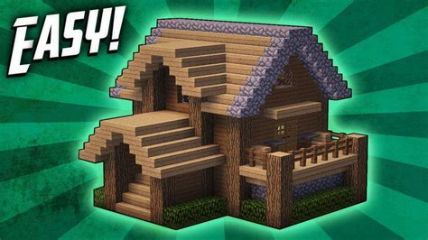 how to make minecraft houses minecraft how to build a survival starter house tutorial