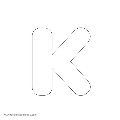 letter k template preschool alphabet stencils freealphabetstencils