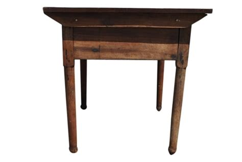 solid wood work table antique primitive solid wood work table 46 quot w