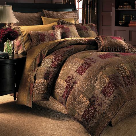 croscill galleria comforter set queen red home design ideas