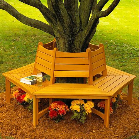 bench around tree made in the shade tree bench woodworking plan from wood