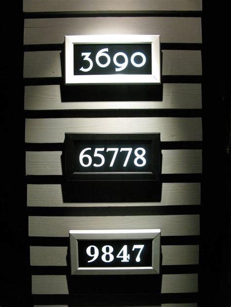 led lighted address signs 1000 images about address led illuminated street