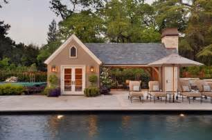 love this pool house cabana
