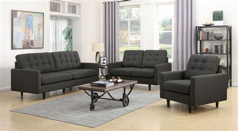 Charcoal Living Room Furniture by Kesson Charcoal Living Room Set 505374 Coaster Furniture