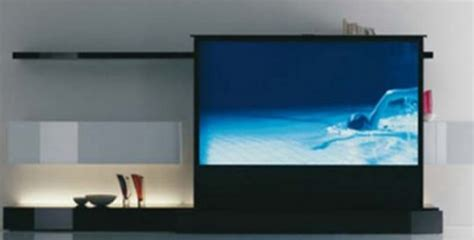 Clean and minimalist home theater tv from acerbis