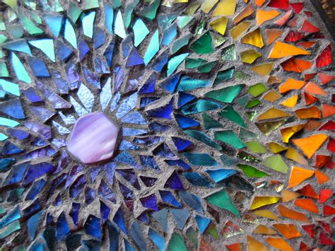 pattern mosaic art rainbow mosaic mandala detail mosaic mandala by margaret