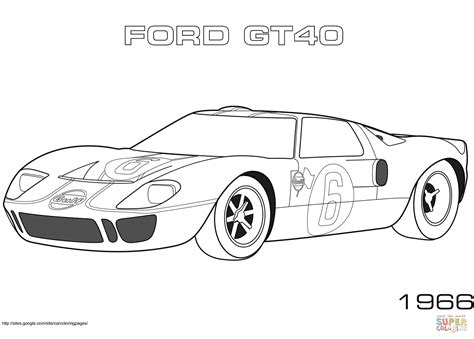40 Coloring Page by Coloriage 1966 Ford Gt40 Coloriages 224 Imprimer Gratuits