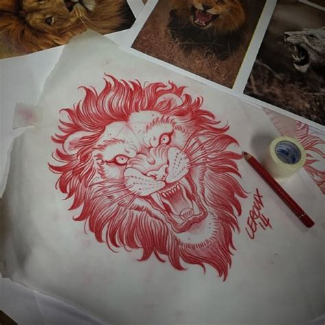traditional lion tattoo traditional