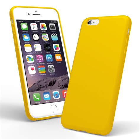 Iphone 6 Plus 6 Plus S Silicone Yellow cover iphone 6 yellow with yellow silicone soft skin rubber cover for apple iphone cover
