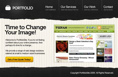 latest layout design for website happy new years most popular posts of 2009 psdfan