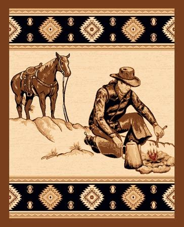 western themed rugs lodge cowboy and lighting western theme 4x6 area rug carpet ebay
