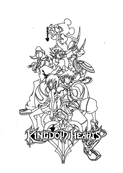 kingdom hearts coloring pages coloring book