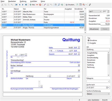 Privatperson Rechnung Oder Quittung keseling software quittung bildschirmfoto