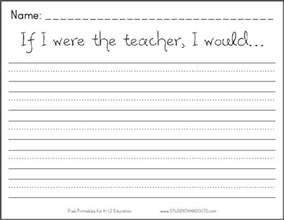 if i were the teacher i would free printable k 2