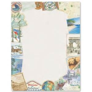 stationery border papers vacation paperframes border