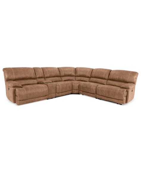 jedd fabric sectional jedd 6 pc fabric sectional with 2 power motion recliners