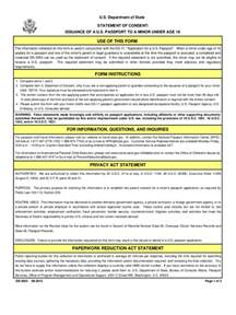 Parental Consent Letter For Passport Renewal Passport Parental Consent Form 2 Free Templates In Pdf Word Excel