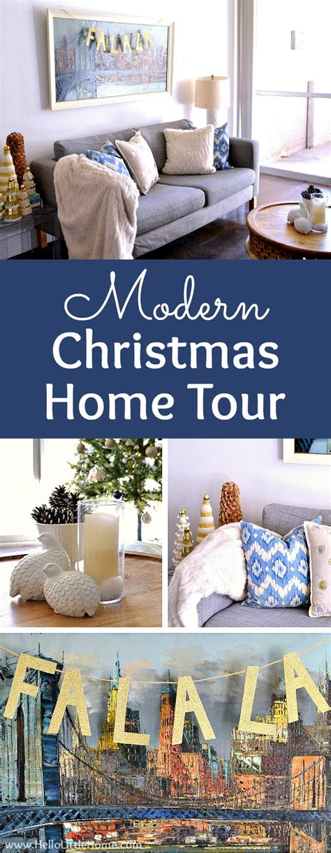 posed perfection christmas home tour modern christmas home tour hello little home
