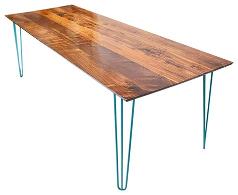 Teal Dining Table Sputnik Dining Table With Teal Legs Midcentury Dining Tables By Moderncre8ve