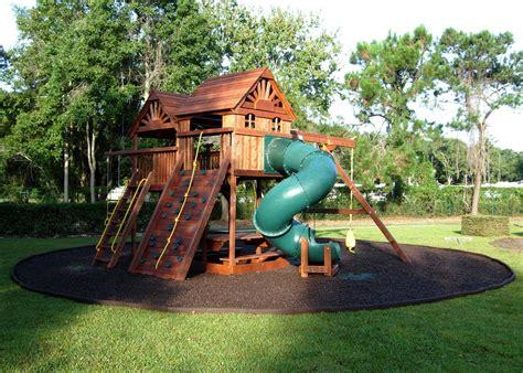 playground ideas  backyard backyard rubber mulch