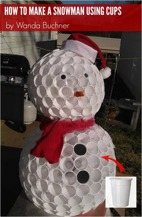 how to mske christmas ornaments with plastic cups how to make a cup snowman by wanda buchner