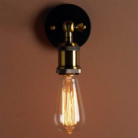 wall light bulb lights industrial style wall light by unique s co