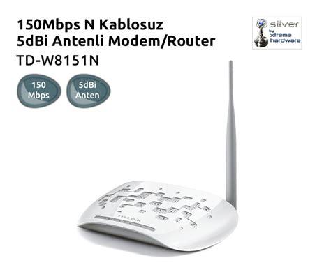 Modem Router Td W8151n tp link td w8151n 150mbps n kablosuz 5dbi antenli wps adsl2 fiyat