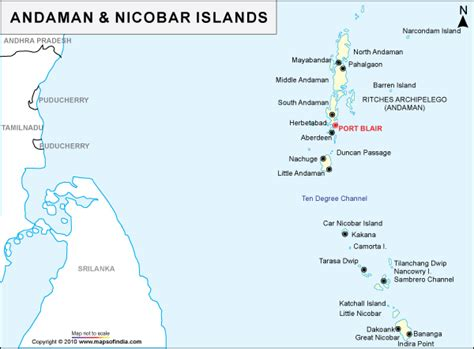 Andaman And Nicobar Outline Map by Andaman And Nicobar Islands Map Map Of Andaman And Nicobar Islands India India Maps Maps