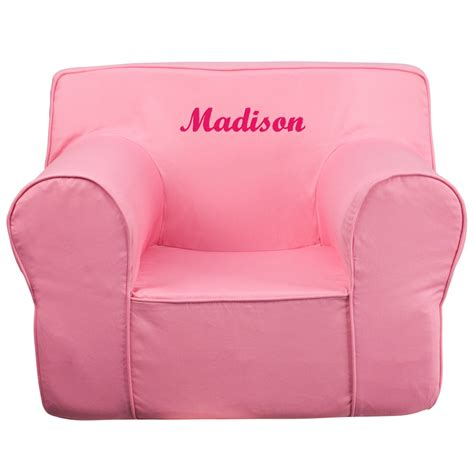 personalized kids chairs sofas personalized oversized solid light pink kids chair