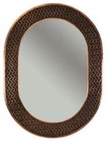 copper bathroom mirrors 35 quot oval copper mirror w decorative braid design rustic
