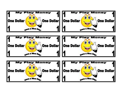 Faced Calendar by Smiley On Dollar Bill Play Money Templates Smiley