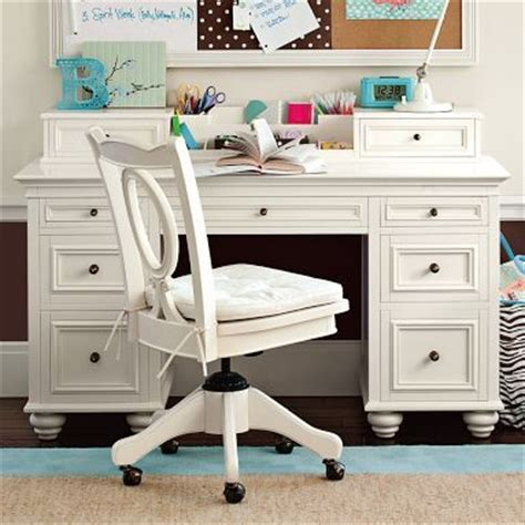 Antique White Desk Pottery Barn Great Decorating Ideas Pottery Barn White Desk
