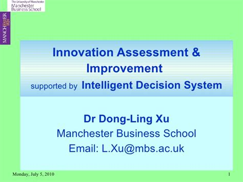 Mba 6941 Unit 4 Scholarly Activity by Paper 9 Innovation Assessment And Improvement D Xu