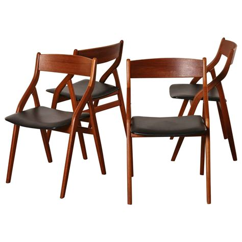 Modern Folding Chairs by Set Of Four Dyrlund Danish Modern Teak Folding Dining