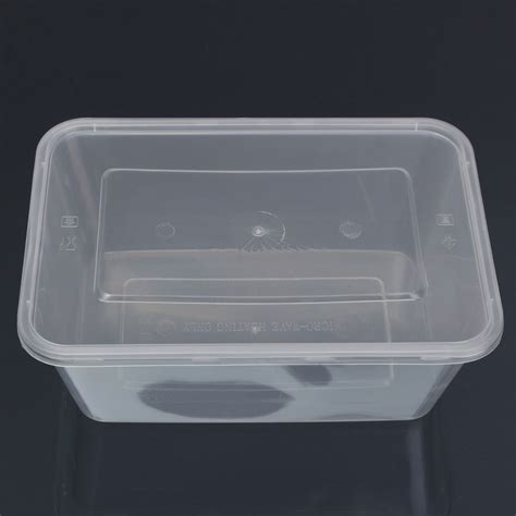 Clear Box No20 10x plastic containers tubs clear with lids microwave food safe takeaway box 500ml lazada malaysia