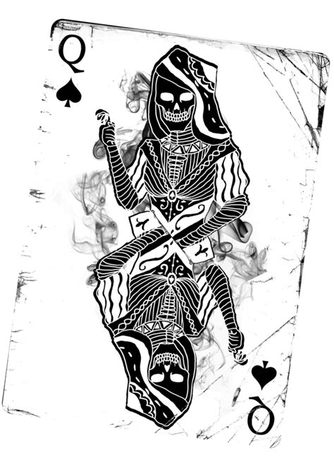 queen tattoo png queen of spades by the demons heart on deviantart