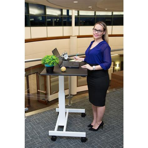 laptop desk with wheels luxor black laptop desk with wheels standup sc40 wb the
