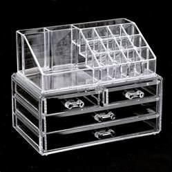 acrylic cosmetic organizer 4 drawers drawer makeup