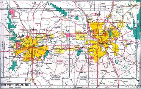 printable map of dfw area only pictures dallas fort worth map