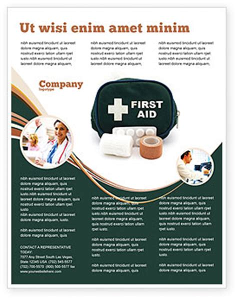 first aid set flyer template background in microsoft word