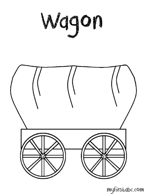 covered wagon horse coloring pages