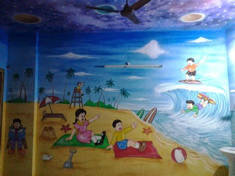 painting for free to play play school wall painting 3d wall painting