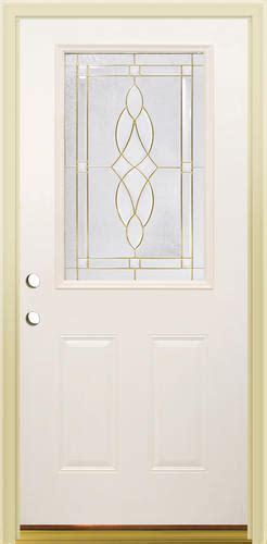 Menards Mastercraft Exterior Doors Mastercraft Ce 656 Primed Steel 1 2 Lite Prehung Ext Door At Menards 174