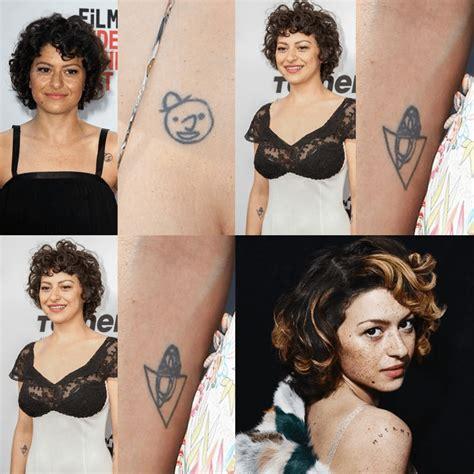 alia shawkat tattoo alia shawkat tattoos inks in and with