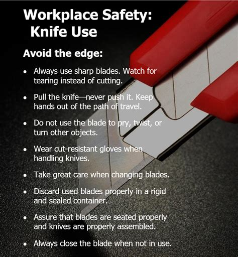 safe knife 187 archive safe knife use tips from the safety team at