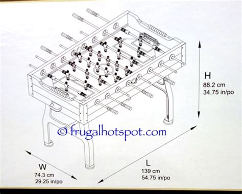 standard foosball table size costco vintage foosball table 379 99 frugal hotspot