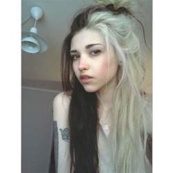 black and white color hairstyles half black and blonde hair tumblr buscar con google