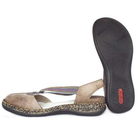 closed sandals rieker antistress delight 46362 64 s closed toe